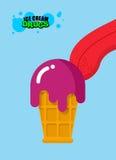 Droga el helado Helado ácido Dulzor para los adictos Foo de la droga Fotos de archivo