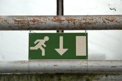 Droga ewakuacyjna wskaźnik Obraz Stock