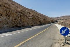 Droga góry w pustynia negew Izrael Obraz Stock