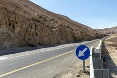 Droga góry w pustynia negew Izrael Obraz Royalty Free