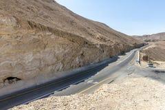 Droga góry w pustynia negew Izrael Obrazy Stock