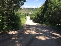 Droga gruntowa blisko do Benmiller austerii & zdrój w Goderich Ontario Kanada Obrazy Stock