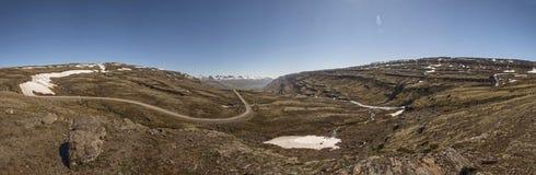 Droga Gruntowa - trasa 939, Wschodni region, Iceland Panoramiczny Zdjęcia Stock