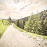 Droga gruntowa w Austria Zdjęcia Stock