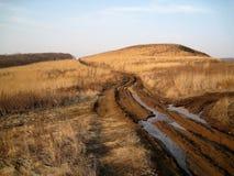 Droga gruntowa w jesieni Zdjęcie Stock
