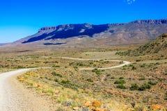 Droga gruntowa w Karoo parku narodowym, Południowa Afryka Obrazy Royalty Free