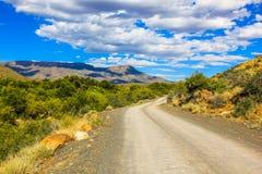 Droga gruntowa w Karoo parku narodowym, Południowa Afryka Obraz Stock