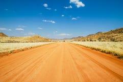 Droga gruntowa w Namib Pustyni Obrazy Stock