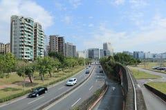 Droga Handlowy teren & Opierający się teren przemysłowy w Taipei mieście Obrazy Royalty Free