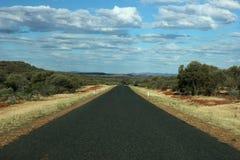 Droga horyzont w odludziu Australia Obraz Stock