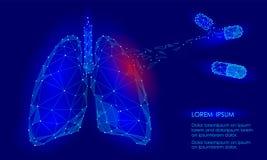 Droga humana do tratamento da medicina dos pulmões do órgão interno ilustração stock