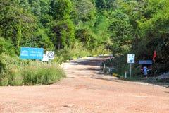 Droga iść PREAH VIHEAR świątynia światowe dziedzictwo Kambodża królestwo cud Fotografia Royalty Free
