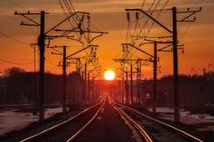 Droga iść w kierunku słońca Zdjęcie Royalty Free