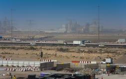 Droga i budowy w Zjednoczone Emiraty Arabskie obraz royalty free