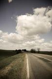 Droga i niebieskie niebo w Odessa Obraz Royalty Free