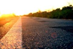 Droga i Zmierzch Zdjęcie Stock