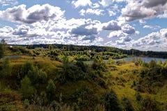 Droga jezioro Obraz Stock