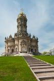 Droga kościół wewnątrz może Obraz Royalty Free