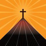 Droga krzyż ilustracja wektor