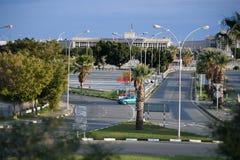 Droga Larnaka lotnisko fotografia stock