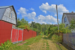 Droga lasowa wieś Zdjęcia Royalty Free