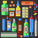 Droga le pillole della medicina Immagine Stock