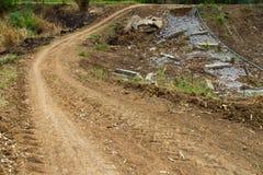 Droga mlejący pękający beton Obraz Stock