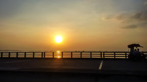 Droga most na morzu Obraz Stock