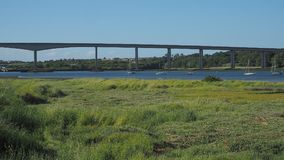 Droga most nad Rzecznym Orwell Zdjęcia Stock