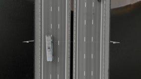 Droga most, powietrzny materia? filmowy od copter zdjęcie wideo