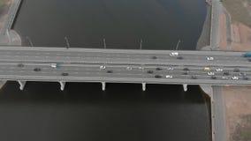 Droga most, powietrzny materia? filmowy od copter zbiory wideo