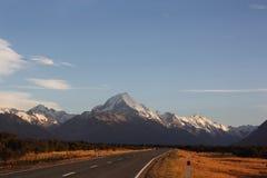 Droga Mt Cook Zdjęcia Stock