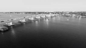 Droga na grobli most zdjęcie royalty free