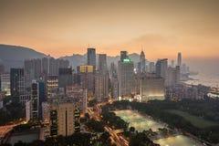Droga na grobli Podpalany Hong Kong Fotografia Royalty Free