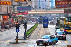 Droga na grobli podpalany miastowy widok, Hong kong Zdjęcie Royalty Free