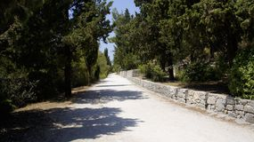 Droga na Marjan wzgórzu Zdjęcie Stock