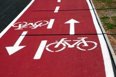 droga na rowerze Obraz Royalty Free