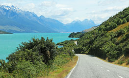 Droga na Wakatipu jeziorze Obraz Royalty Free