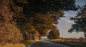 Droga na wsi w jesieni Zdjęcia Royalty Free