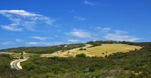 Droga na wzgórzu zdjęcia stock