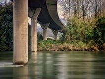 Droga nad rzeka w środkowym Asturias Hiszpania fotografia royalty free