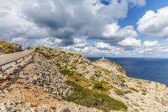 Droga Nakrywać Formentor latarnię morską zdjęcie stock