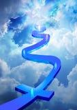 Droga niebo Zdjęcia Stock