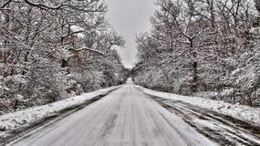 droga śnieg Obrazy Royalty Free