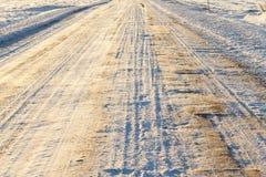 droga śnieg Zdjęcia Royalty Free
