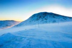 droga śniegu Zdjęcia Royalty Free