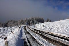 droga śniegu Fotografia Stock