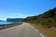Droga Nordcapp zdjęcie stock