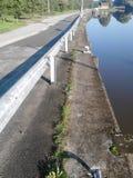 Droga obok kanału Fotografia Stock