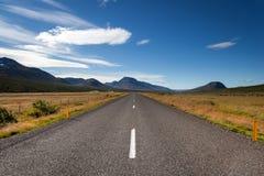 Droga od Egilsstadir południe wyspa, Wschodni Iceland Obrazy Stock
